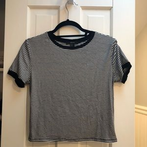 FOREVER 21 STRIPED RINGER TEE